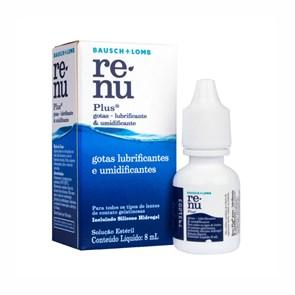 Produto Colírio Umidificante Lente de Contato Renu Plus 8 ml